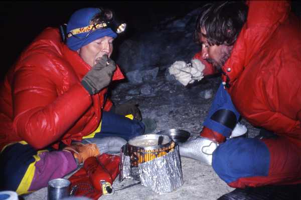 Phil Lloyd and Stephen Kelsey in Bolivia 1991