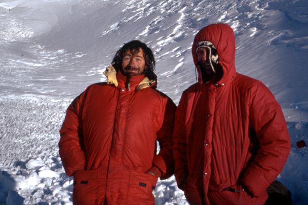 Stephen Kelsey and Graham Wittaker in Bolivia 1991