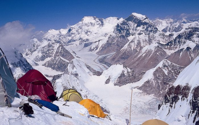 Camp 2 on the North ridge of Everest