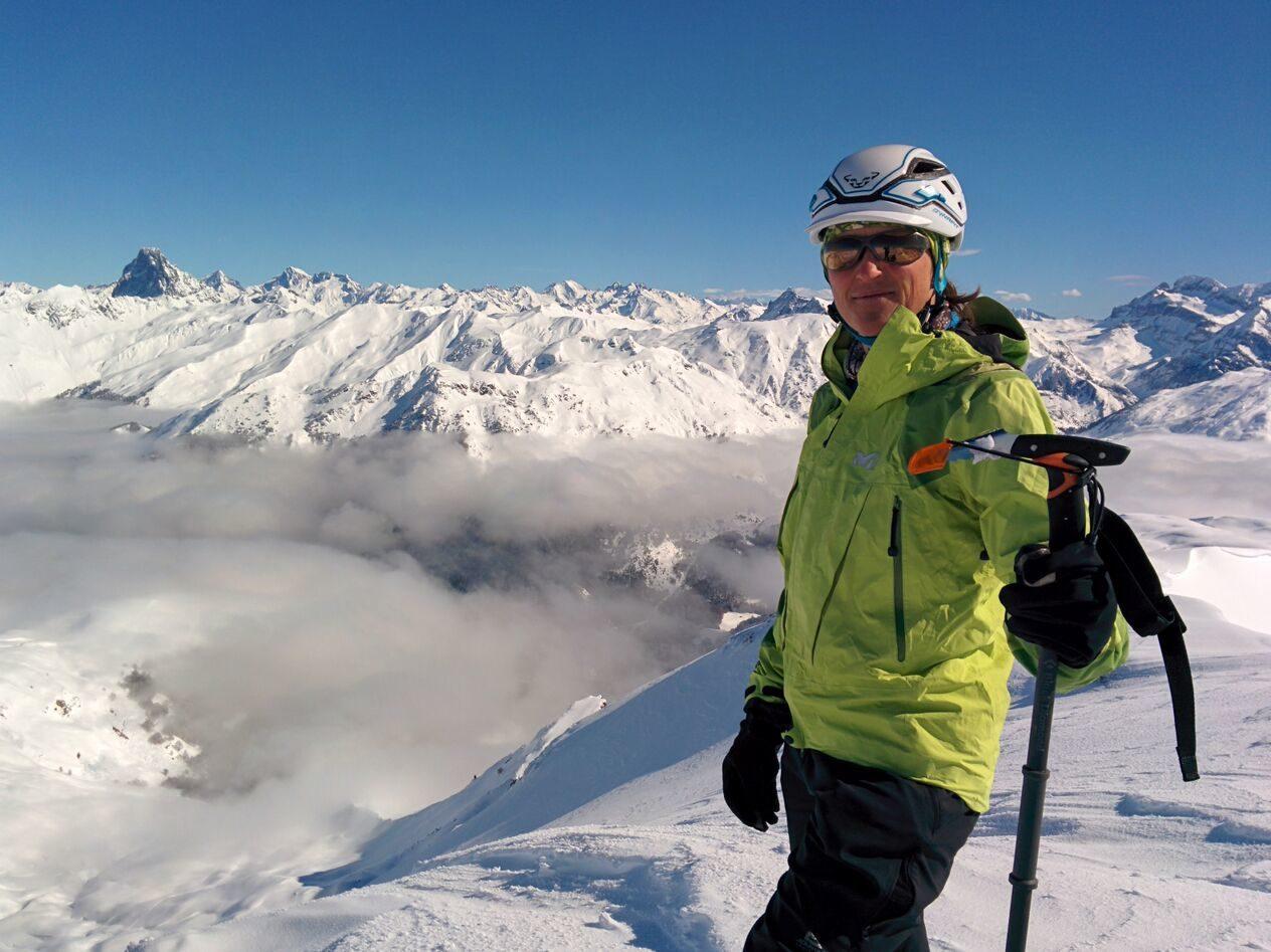 Cathy ski touring