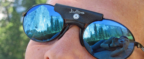 El Capitan reflected in sunglasses.