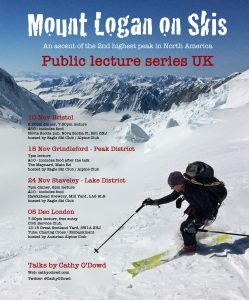 Mount Logan ski ascent public lecture series UK 2016