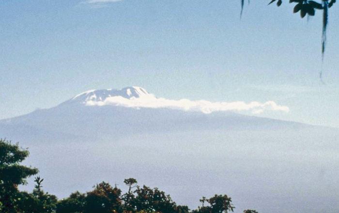 Kilimanjaro from the slopes of Mount Meru