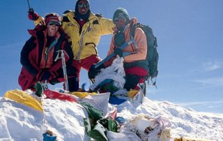 Cathy on the summit of Everest
