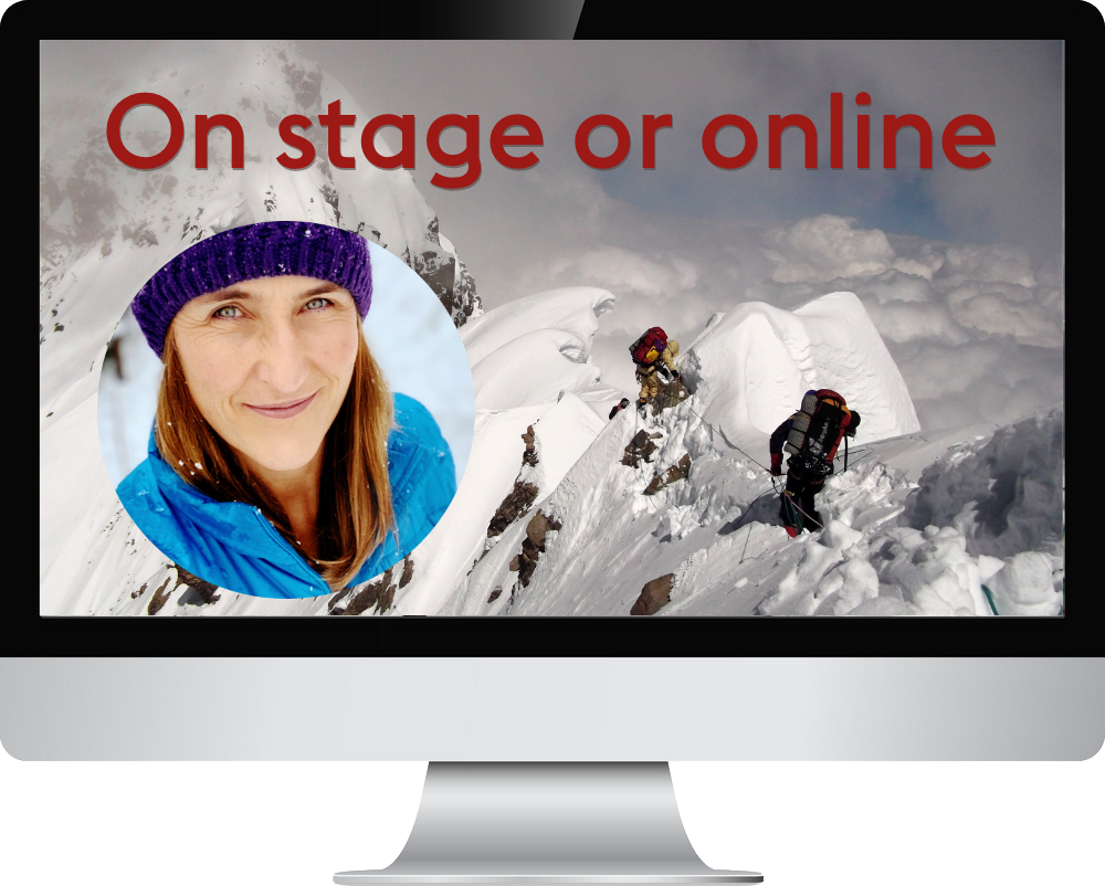 Cathy O'Dowd presents on stage or online