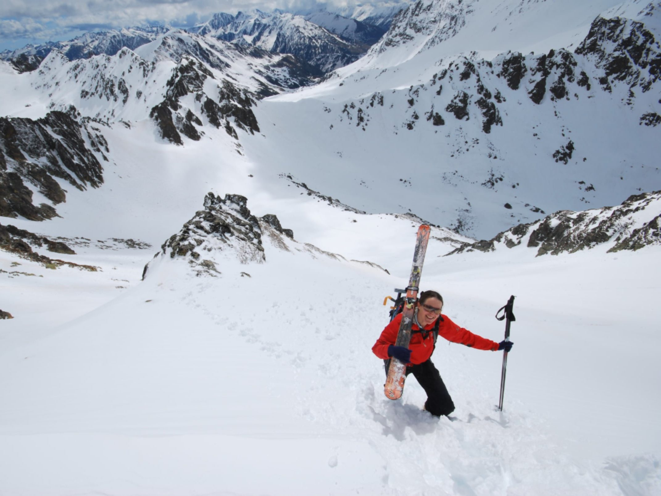 Cathy in the mountains of Andorra