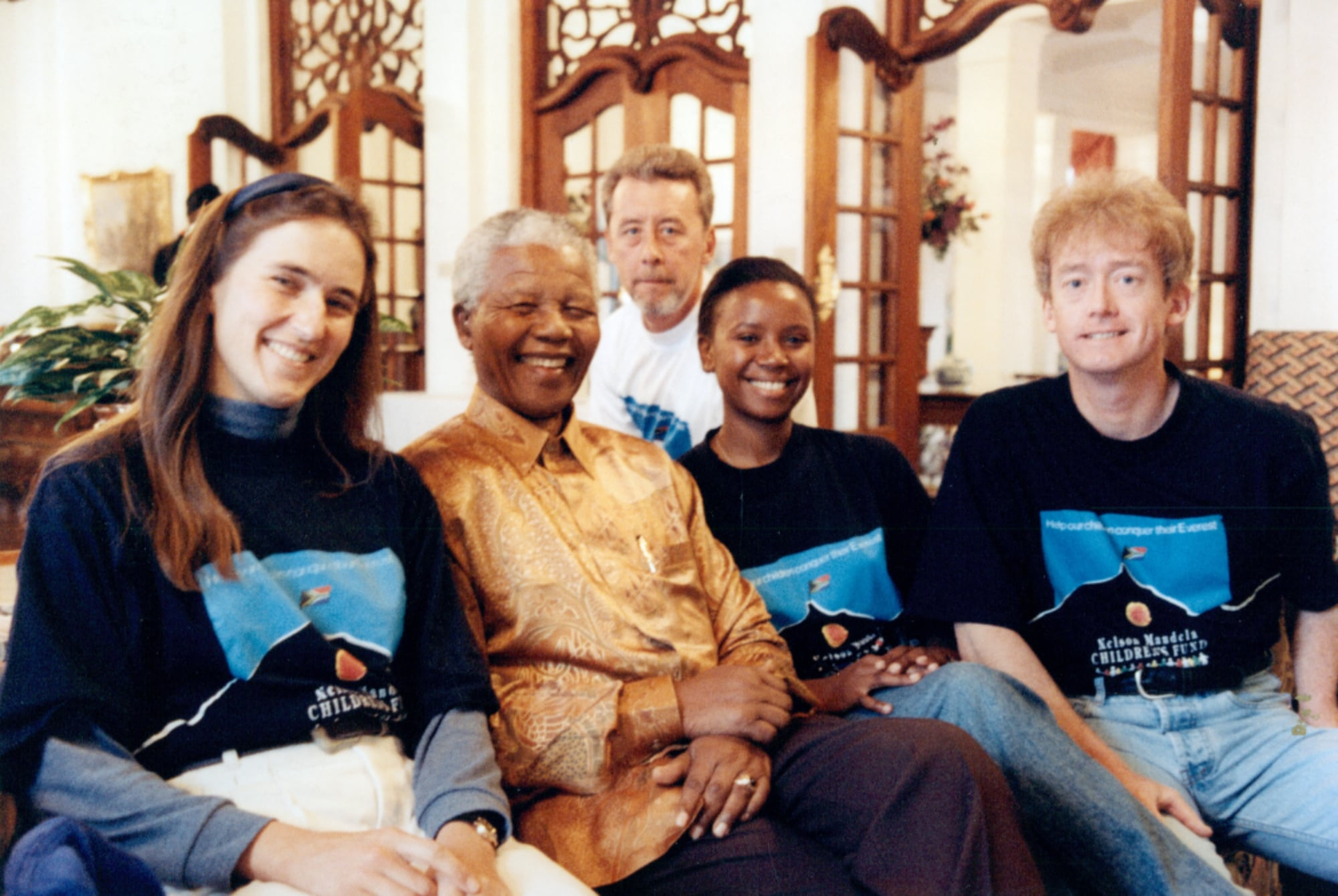 Everest team with Nelson Mandela