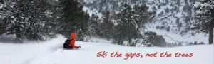 Ski the gaps, not the trees. The art of focus.