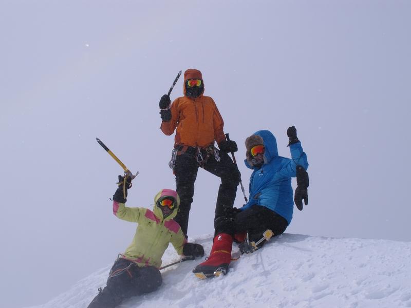 Mount Logan summit in the mist