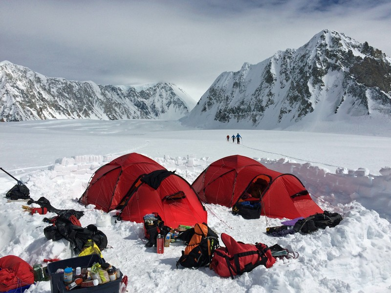 Mount Logan Kings Trench base camp