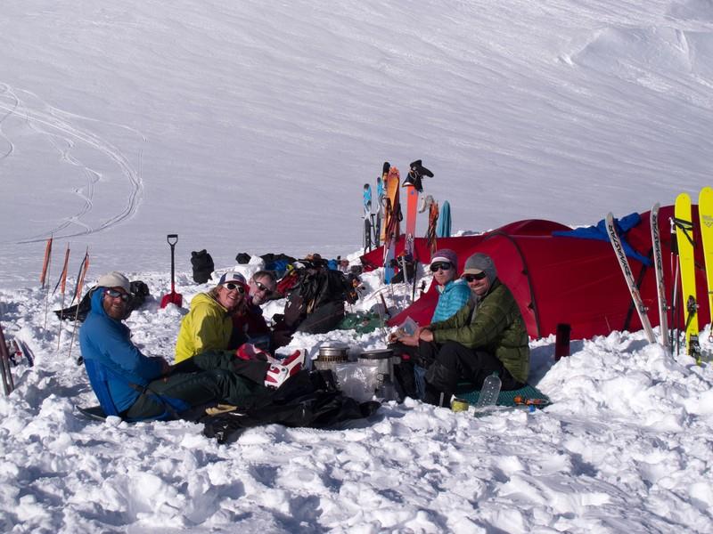 Base camp Kings Trench Mount Logan