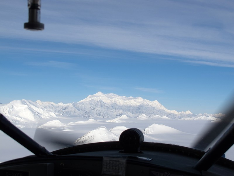 Mount Logan from the plane