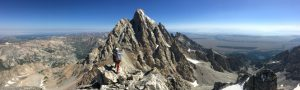 The Grand Teton photographed from the summit of the Middle Teton.