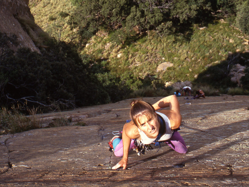 Myself, leading Fallen Angel at Dome in South Africa, back when I was young and pink & green tights were all the rage.