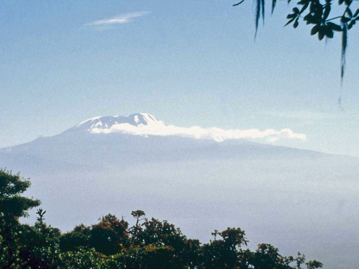 Kilimanjaro from the slopes of Mount Meru