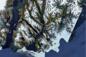 Greenland Kayak proposed route