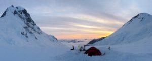 Camped on Mount Logan, Yukon, Canada