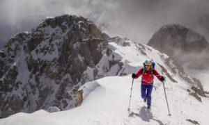 Cathy O'Dowd on Pedraforca in winter