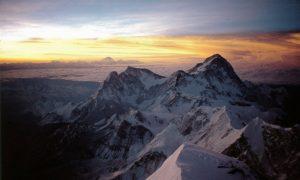 Dawn over Makalu, seen from Everest