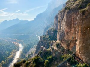 Rock climbing at Camarassa