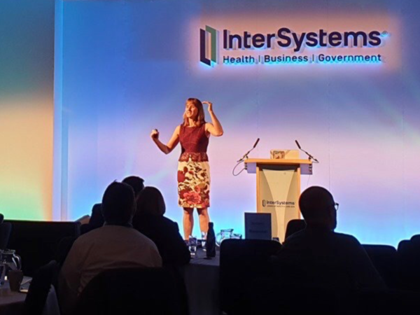 Cathy O'Dowd presenting for Intersystems