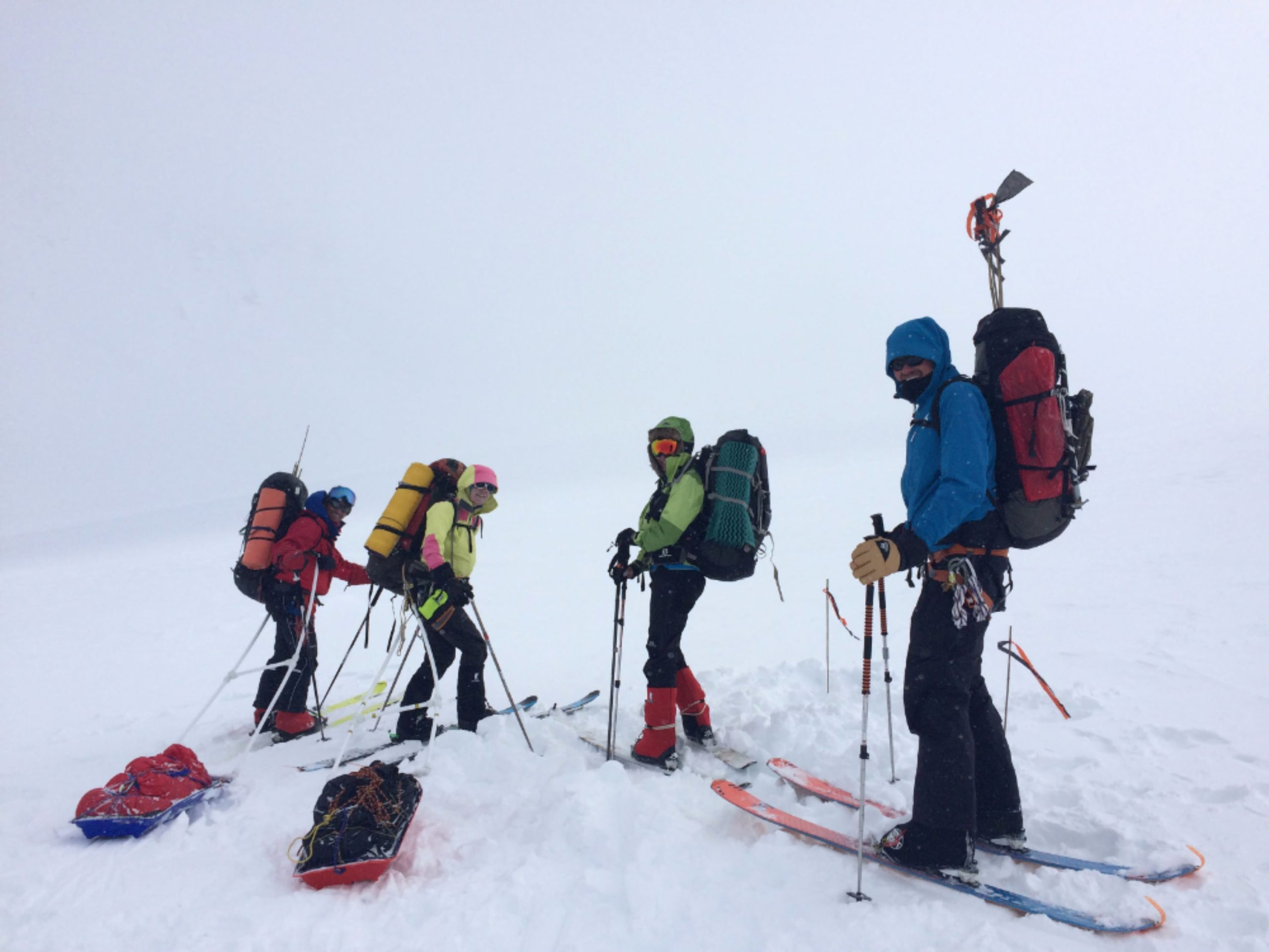 Cathy ski mountaineering in Canada