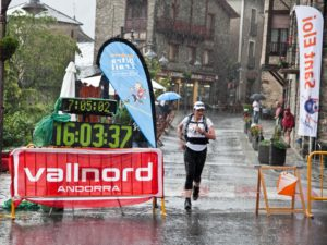 Cathy trail running in Andorra