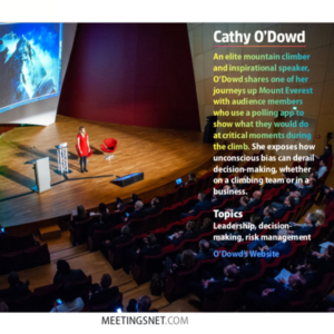 Cathy O'Dowd was featured by MeetingsNet as one of 9 interactive speakers