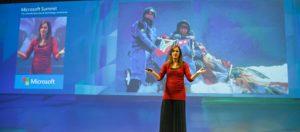 Cathy O'Dowd speaking at Microsoft Summit