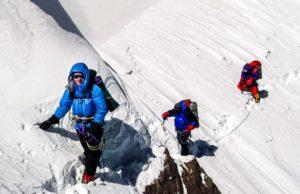Cathy O'Dowd on the Mazeno ridge of Nanga Parbat