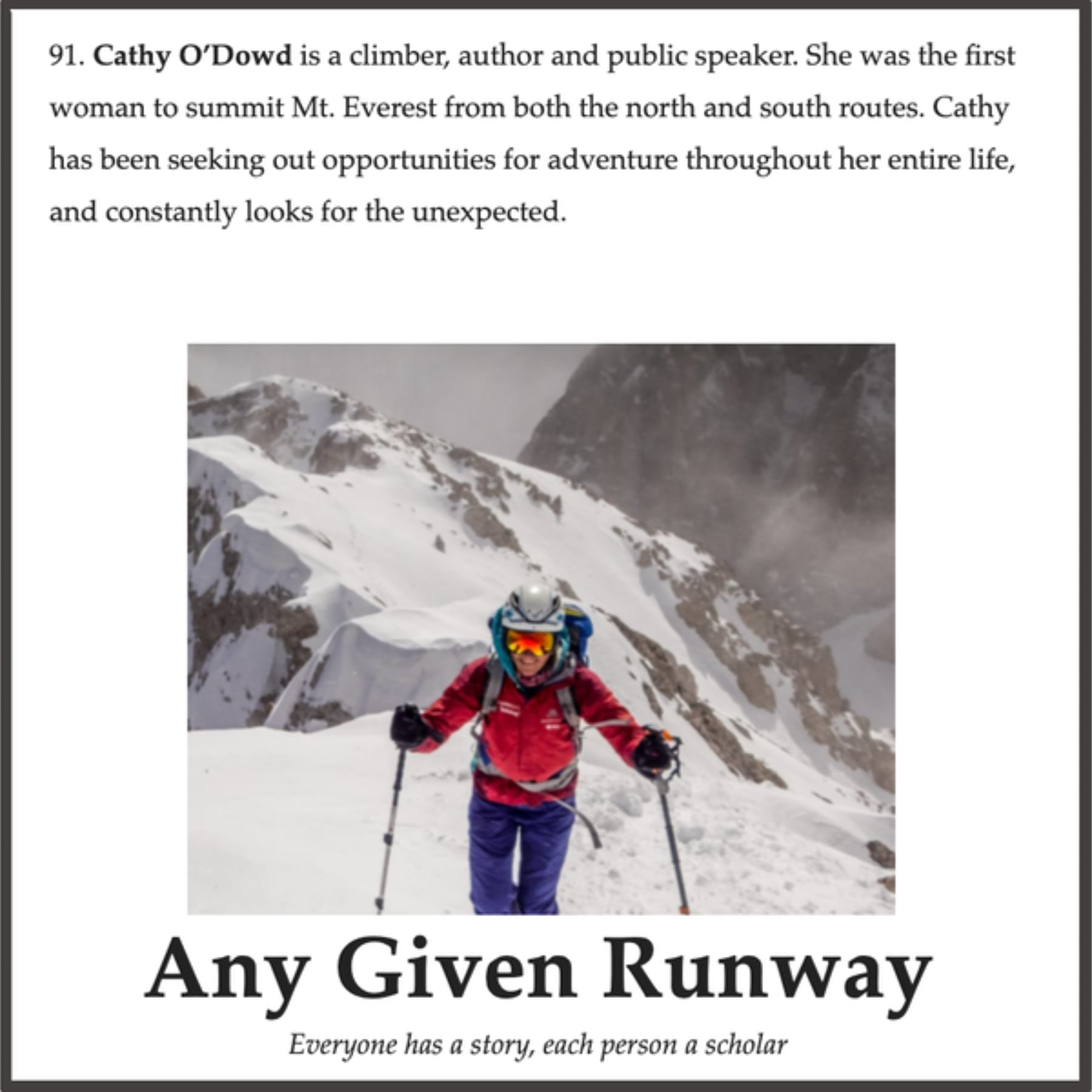 Interview with the Any Given Runway podcast