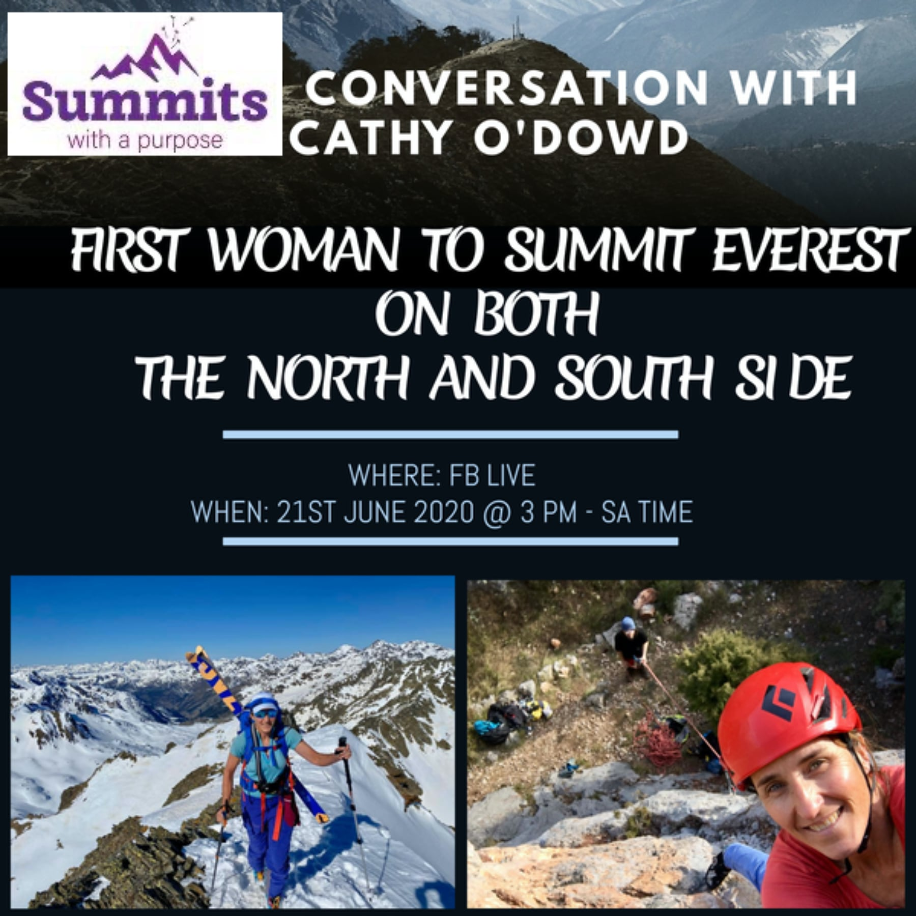 A Facebook live talk with Saray Khumalo, 1st black African woman to climb Everest