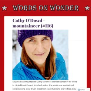 Cathy O'Dowd's interview with Words of Wonder