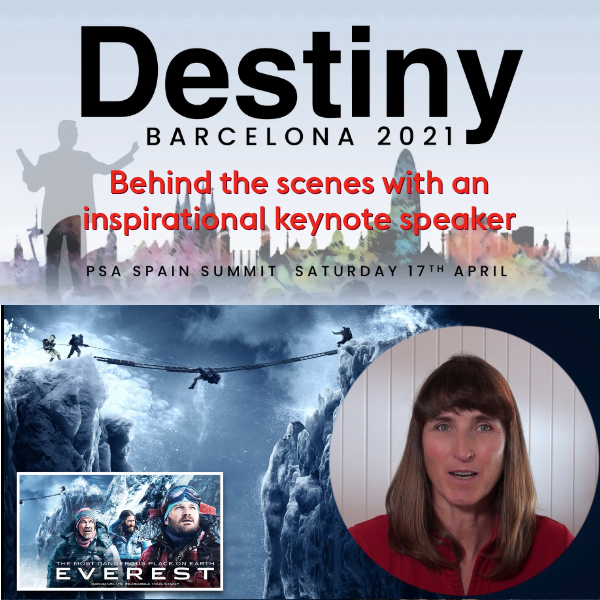 Destiny Barcelona by PSA Spain, April 17. Cathy takes you behind the scenes with an inspirational keynote speaker.