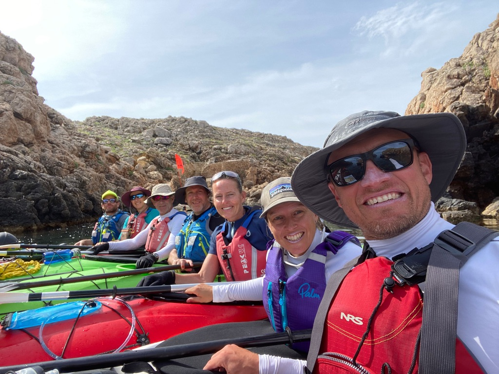 Our team, plus a Basque paddler we met en route