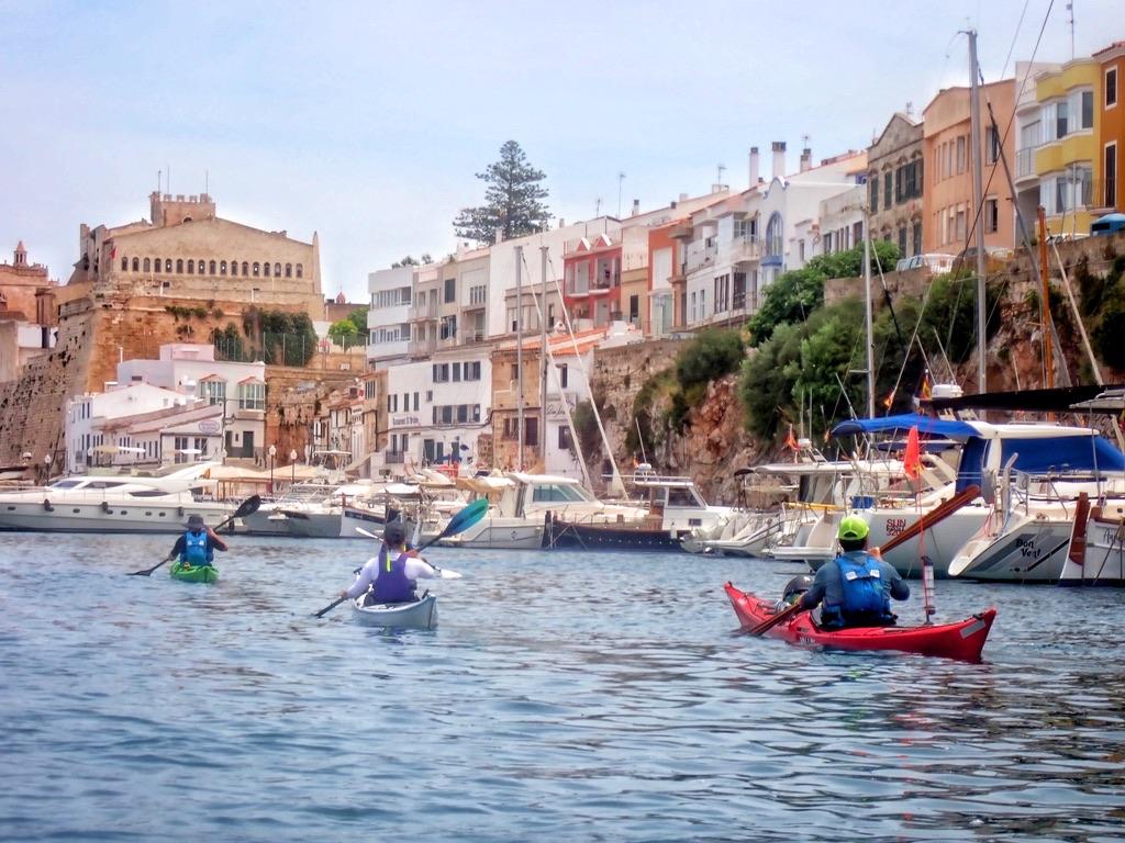 Paddling into Ciutadella
